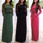 Long Sleeve Casual Maxi Dresses for Women