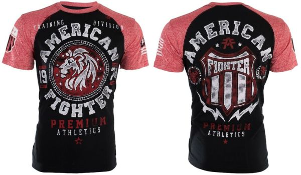 American Fighter Mens T-shirt Alabama Lion Black Athletic