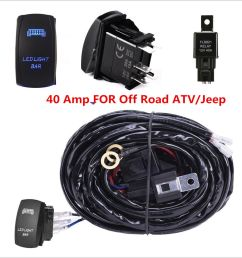 40 amp off road atv jeep blue led light bar wiring harness installing led light bar [ 1000 x 1000 Pixel ]
