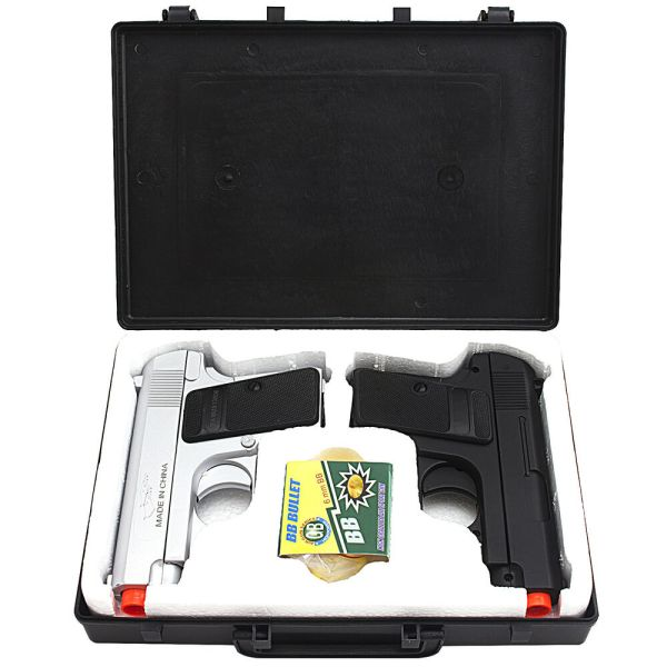 Double Eagle Spring Airsoft Dual Pistol Combo Pack Set