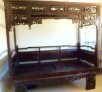 Exquisite Antique Chinese Hand Carved Wood Wedding Opium ...