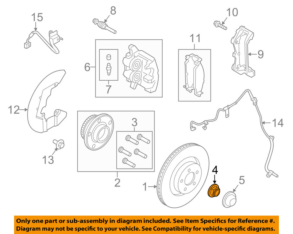 medium resolution of details about ford oem 15 18 mustang axle nut fr3z3b477b