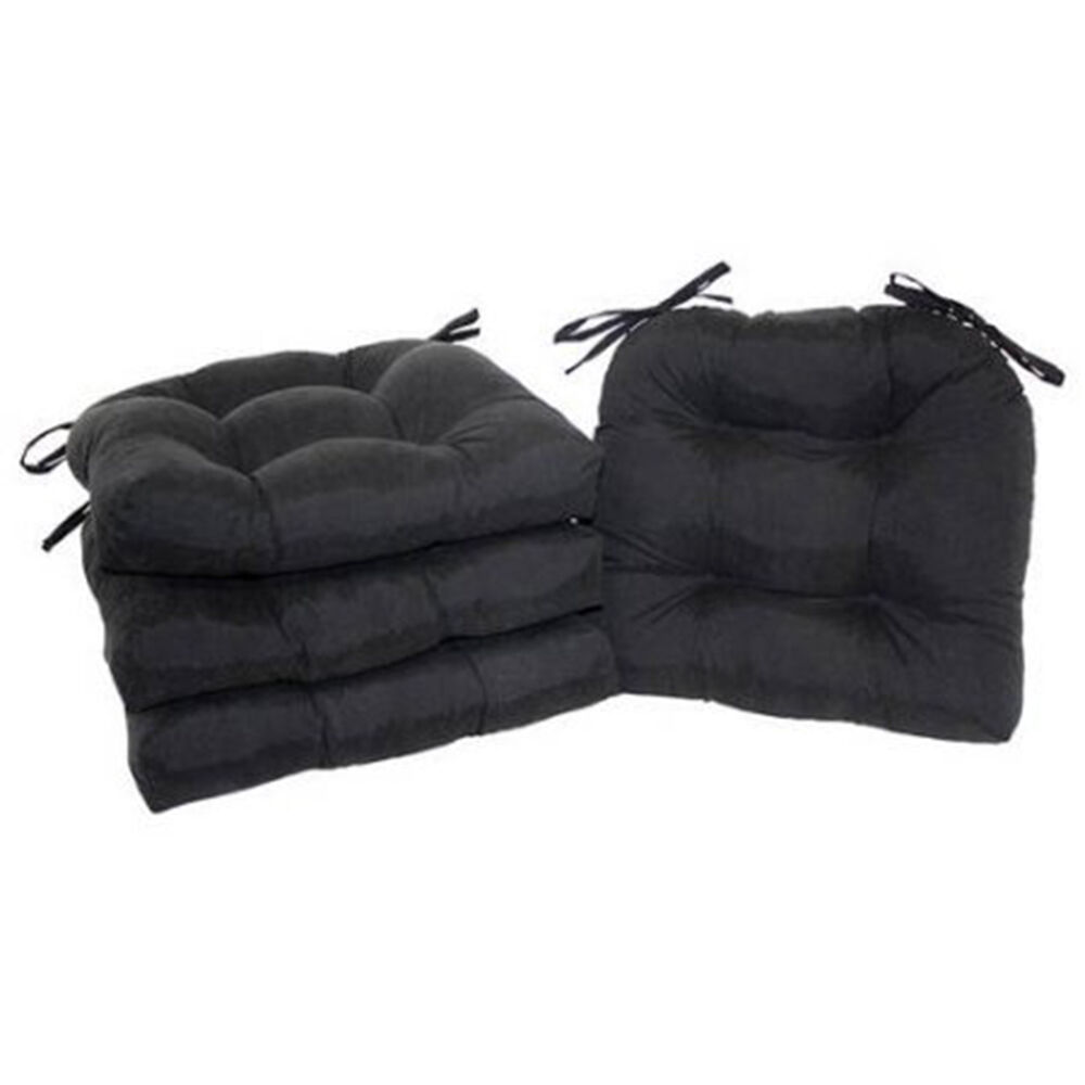 Chair Cushion Pad Seat Set With Ties Patio Outdoor Garden