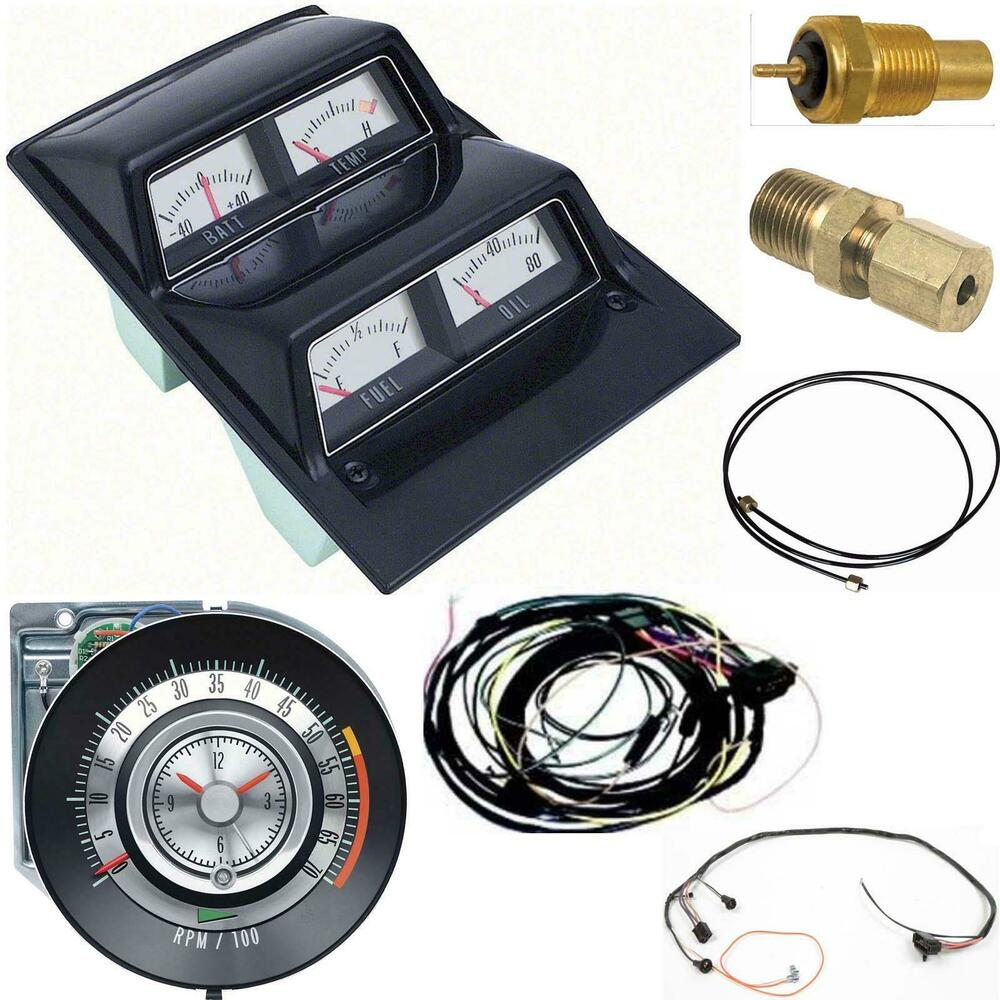 hight resolution of details about oer 1968 camaro console gauges w wiring tach 5500 at fs