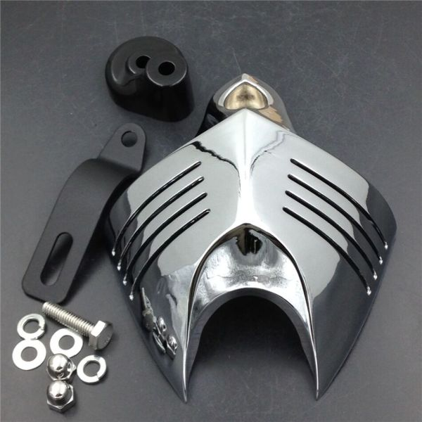 Chrome Twin Horn Cover Cowbell 1992-2014 Harley