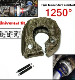 t3 titanium turbo blanket heat shield cover barrier turbo charger cover wrap new 4683812419473 ebay [ 1000 x 1000 Pixel ]