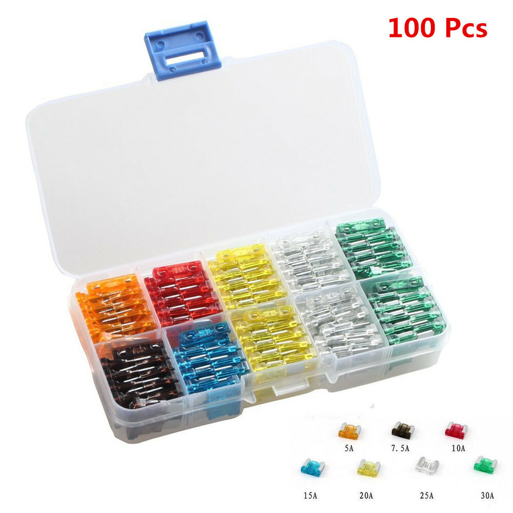 medium resolution of details about 100pc assorted auto car mini low profile fuse box 5 7 5 10 15 20 25 30 amp sales