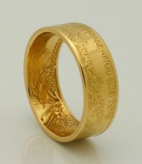 2016 1/2 oz American Eagle Gold Coin Ring 22K