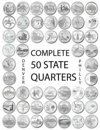 """1999-2008 US State Quarters Complete Uncirculated Set """"P ..."""