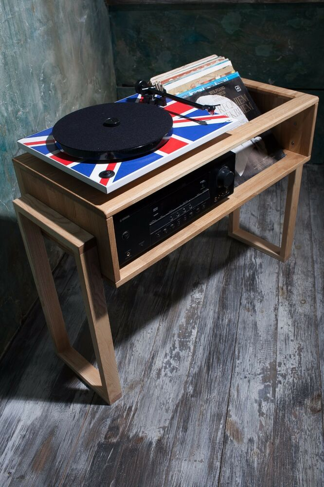 Record player stand Record Player Cabinet Media Console