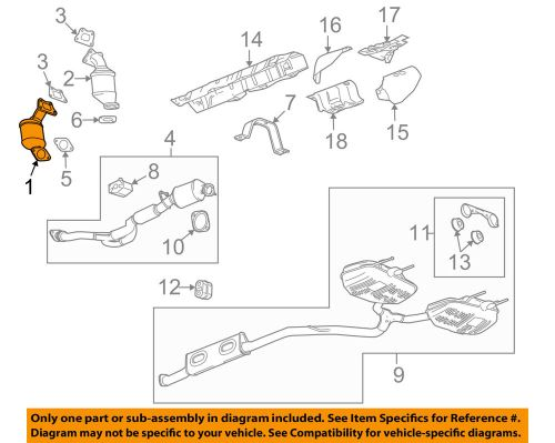 small resolution of buick gm oem 2010 lacrosse 3 0l v6 catalytic converter v6 engine diagram 1989 pontiac 3