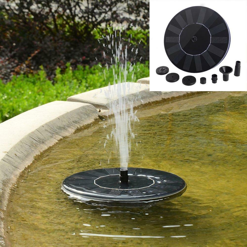 Outdoor Solar Powered Bird Bath Water Fountain Pump For
