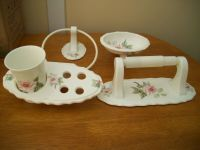 Hadida Bathroom Accessories pink rose bone china lovely | eBay