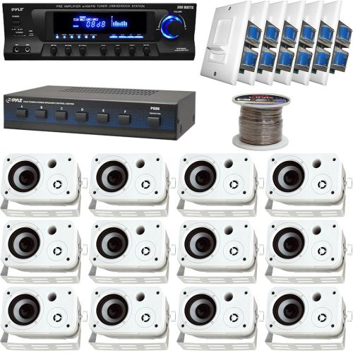 small resolution of details about white 6 5 box speakers speaker selector volume knob wires pyle usb receiver