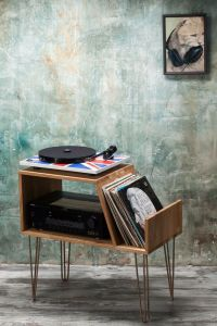 Record player stand, Record Player Cabinet, Media Console
