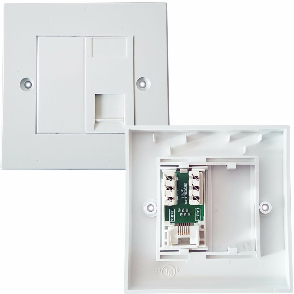 medium resolution of rj11 phone socket wall face plate outlet bt router modem telephone extension