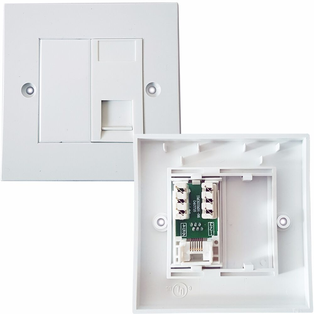 hight resolution of rj11 phone socket wall face plate outlet bt router modem telephone extension