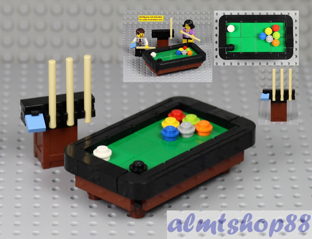 LEGO Pool Snooker Billiards Table Cue Stick Black