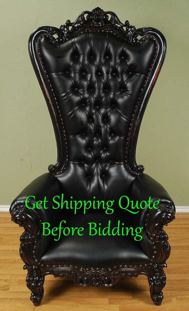 eero aarnio bubble chair shipping a cross country carved mahogany louis xv beregere armchair regal throne black finish vinyl | ebay