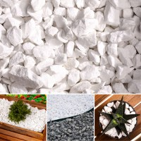 Decorative MARBLE WHITE Stones / Gravel / Chippings ...