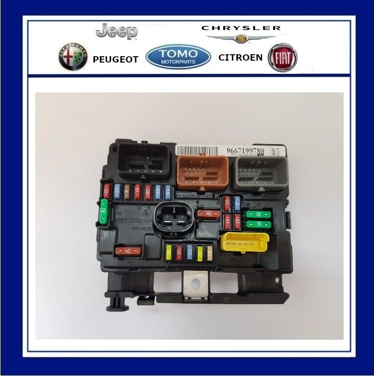 hight resolution of new genuine oe peugeot engine bay fuse box bsm fits peugeot 207 6500hw