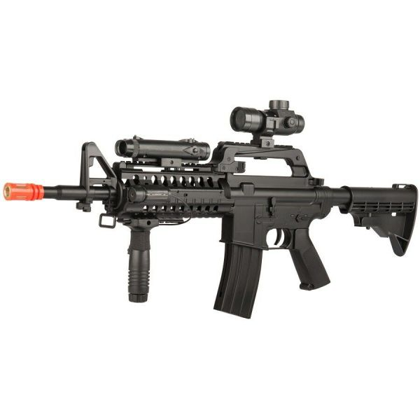 Fps M4 Spring Airsoft Rifle Gun With Scope