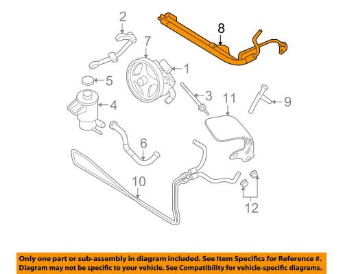 small resolution of details about ford oem 07 08 mustang power steering pressure hose 7r3z3a719c