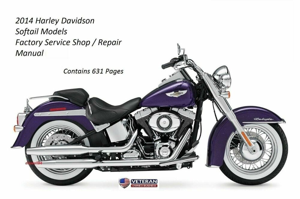2014 Harley Davidson Softail Models Factory Service Shop