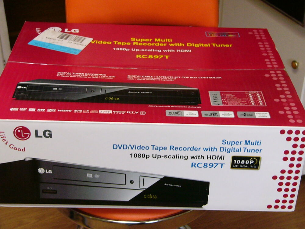 NEW LG RC897T Multi-Format DVD Recorder and VCR Combo with