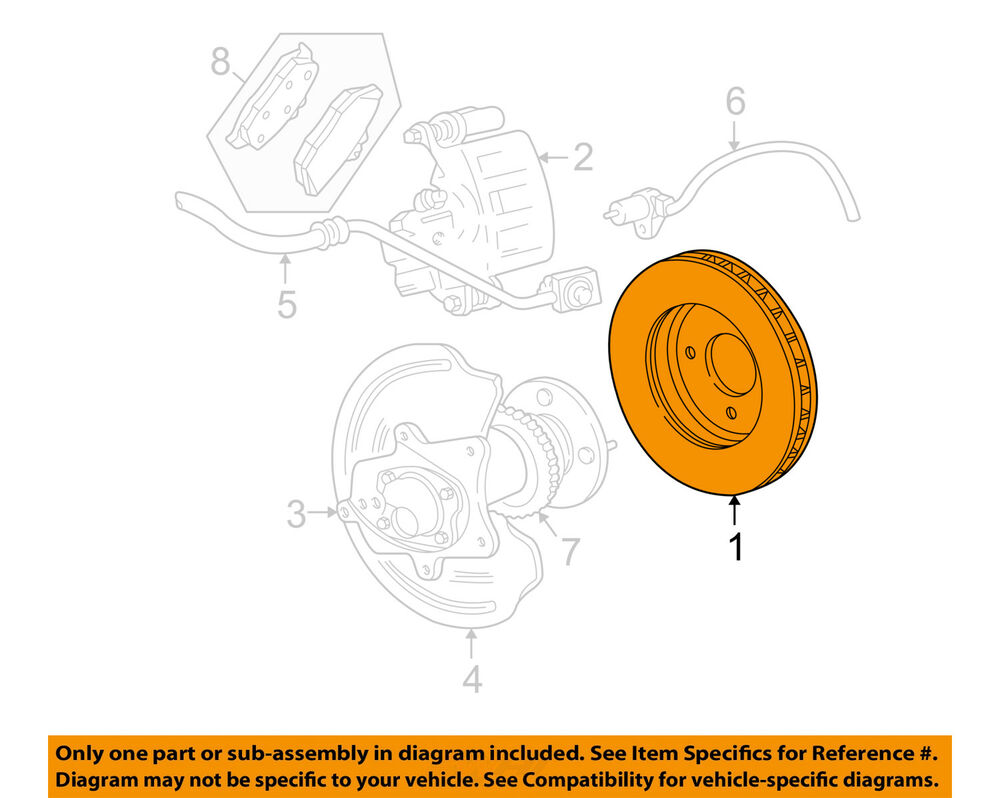 medium resolution of details about ford oem 05 14 mustang rear brake rotor 5r3z2c026aa