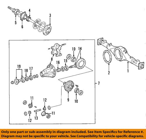 small resolution of details about toyota oem 05 15 tacoma rear axle carrier gasket 4218160130