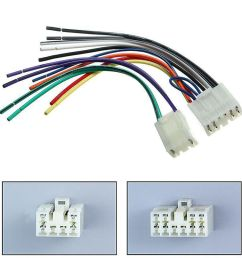 details about radio stereo cd player reverse wire wiring harness plug connector for toyota [ 1000 x 1000 Pixel ]