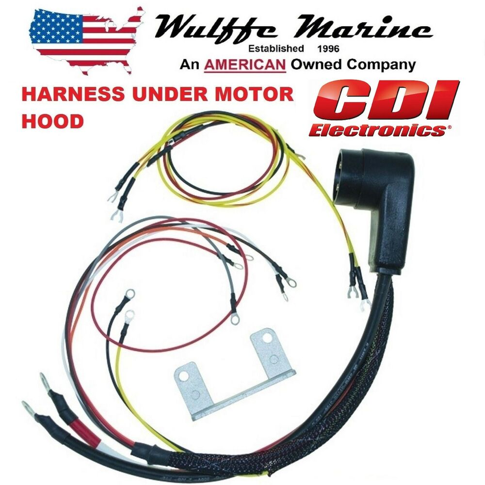 medium resolution of details about internal engine wire harness for mercury outboard 20 140 hp cdi 414 5532 34229