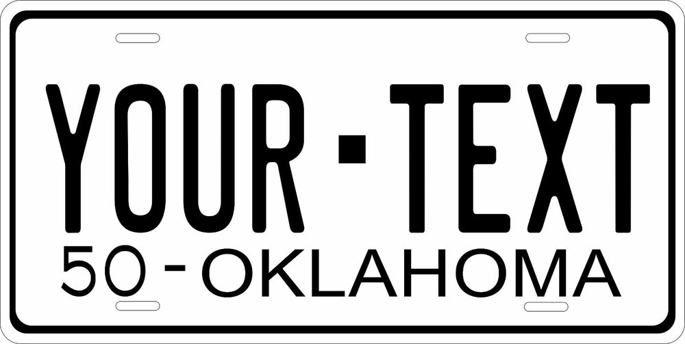 Oklahoma 1950 License Plate Personalized Custom Auto Bike