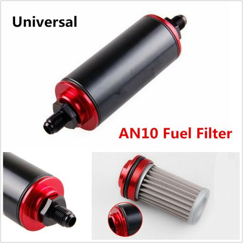 small resolution of black aluminum an10 fuel filter 100 micron high flow fuel inline petrol filter 6242645361137 ebay