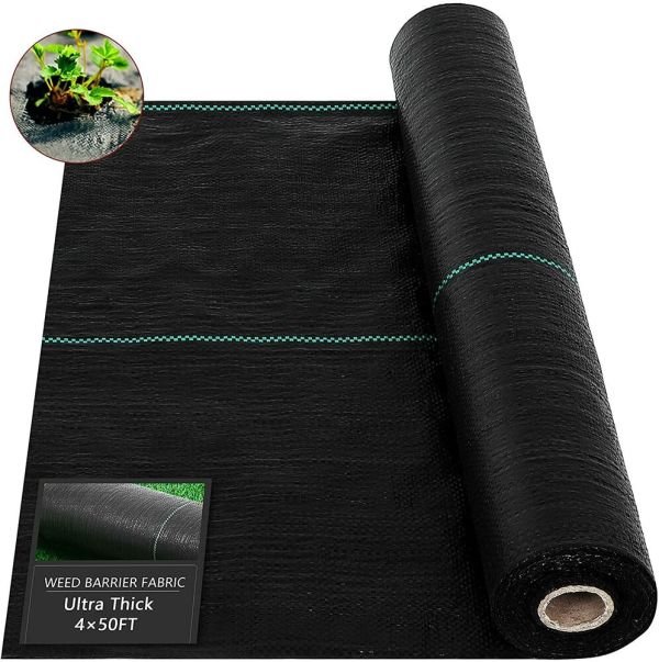 ground cover 6x100ft heavy pp woven