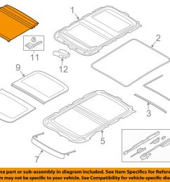 details about mini oem 14 16 cooper sunroof sun roof sunshade shade cover 54107379618 [ 1000 x 798 Pixel ]