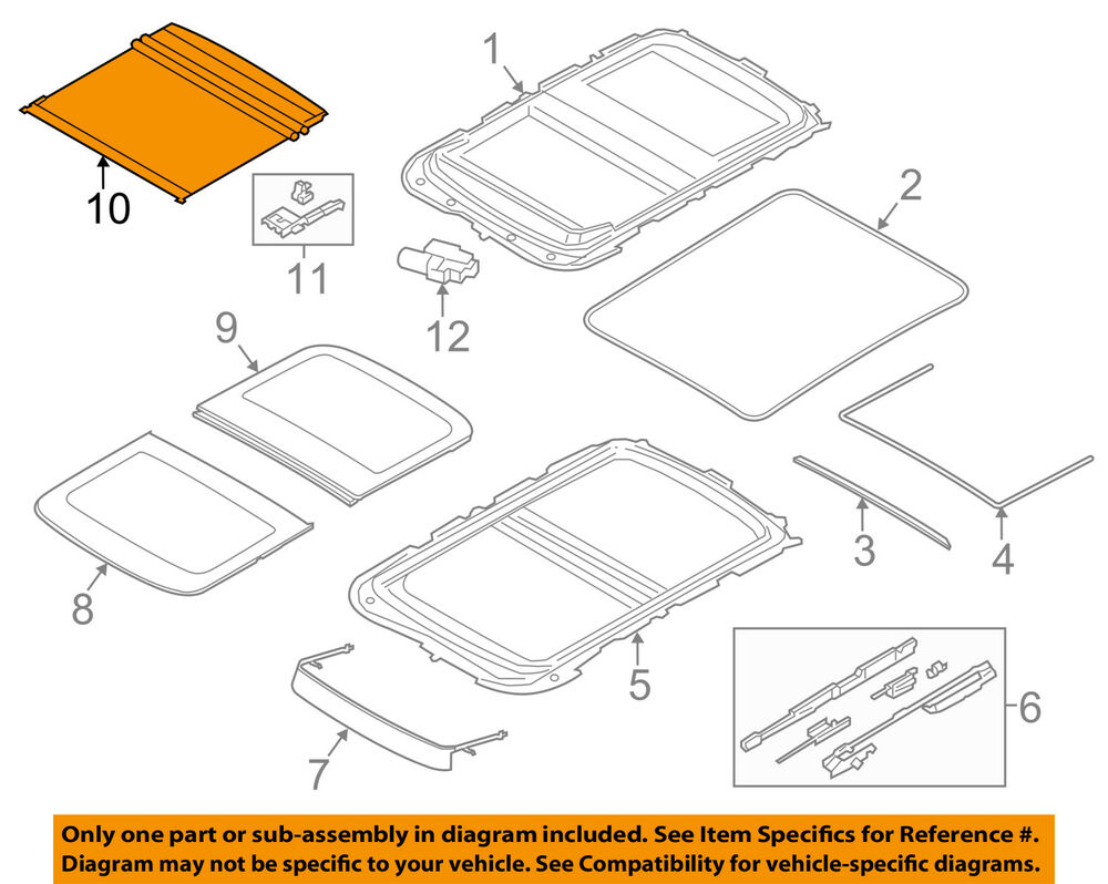 hight resolution of details about mini oem 14 16 cooper sunroof sun roof sunshade shade cover 54107379618