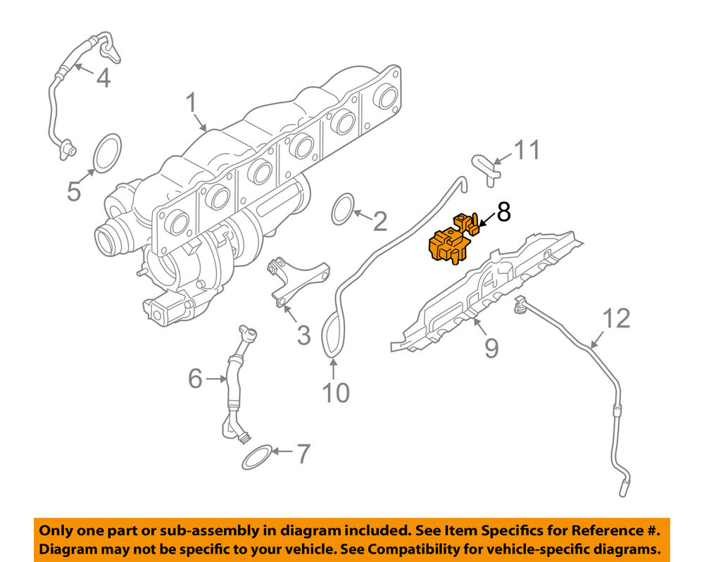 hight resolution of details about bmw oem x3 turbocharger turbo vacuum control pressure converter 11747649407