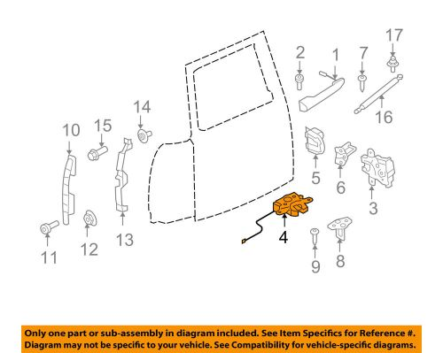small resolution of details about mini oem 08 13 cooper back door lock 51247167498
