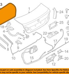 details about bmw oem 11 16 528i trunk lid weatherstrip seal 51767260916 [ 1000 x 798 Pixel ]