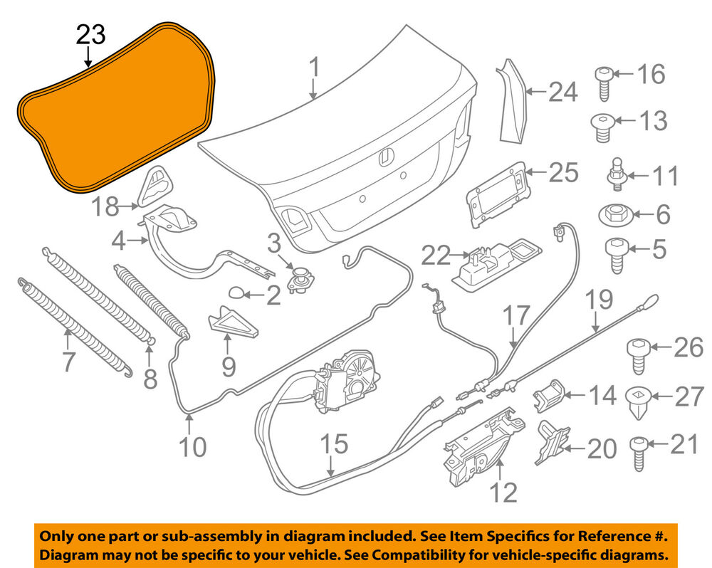 medium resolution of details about bmw oem 11 16 528i trunk lid weatherstrip seal 51767260916