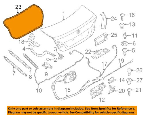 small resolution of details about bmw oem 11 16 528i trunk lid weatherstrip seal 51767260916