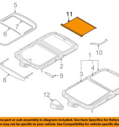 details about mini oem 07 14 cooper sunroof sun roof sunshade shade cover 54102757016 [ 1000 x 798 Pixel ]