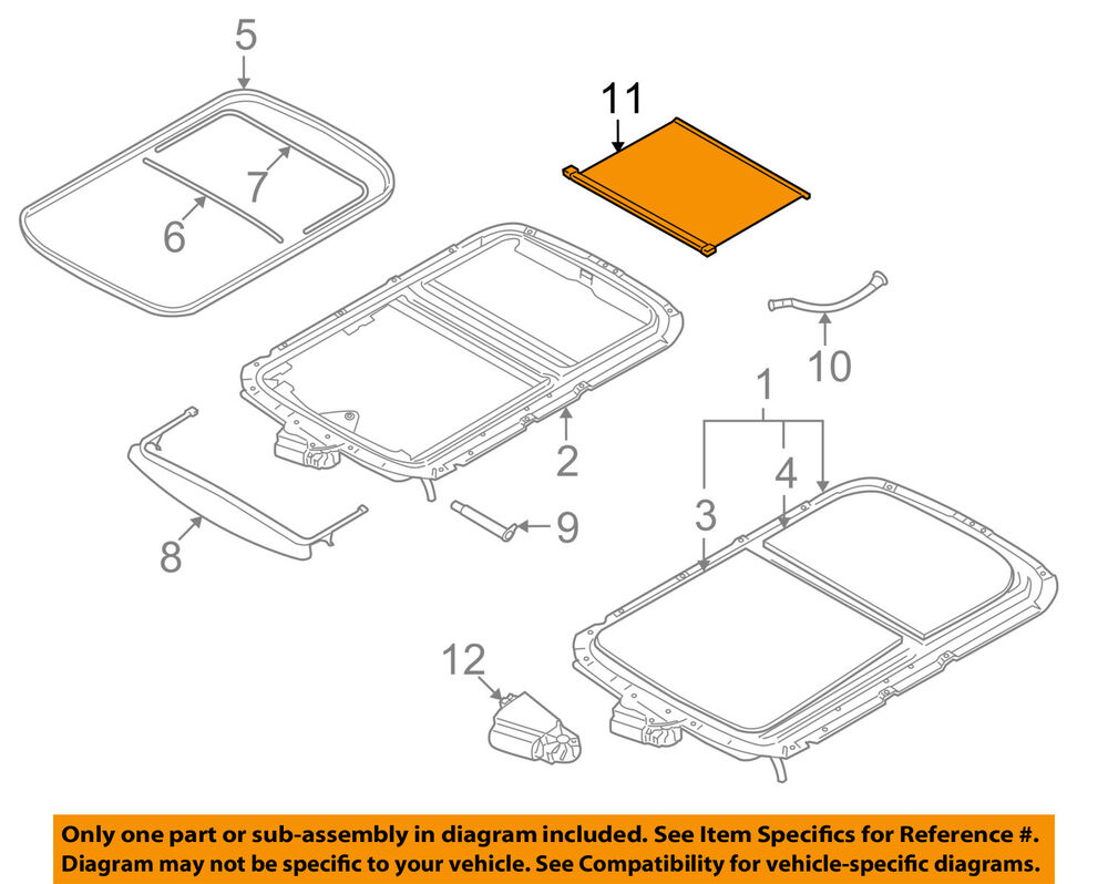 hight resolution of details about mini oem 07 14 cooper sunroof sun roof sunshade shade cover 54102757016
