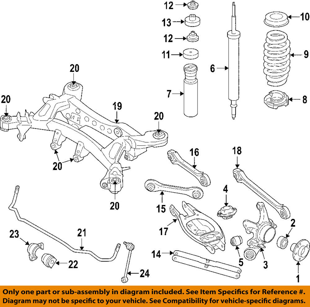 hight resolution of details about bmw oem 08 13 m3 rear wheel bearing 33416775842