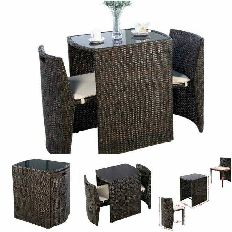 outdoor bistro table and chairs set sharper image massage patio indoor bar dining garden details about stools small