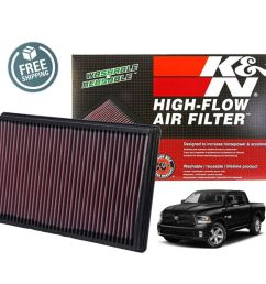 details about k n replacement air filter 33 2247 02 18 dodge ram 1500 5 7l v8 [ 1000 x 911 Pixel ]