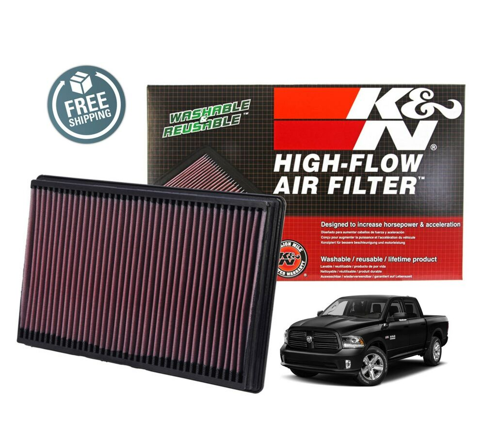 hight resolution of details about k n replacement air filter 33 2247 02 18 dodge ram 1500 5 7l v8