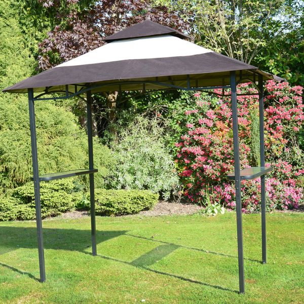 Bbq Gazebo Shelter - Steel Frame Barbecue Bar & Party